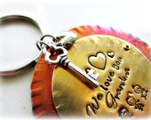 Grandmother Keychain, Mom, Personalized, Key to My Heart