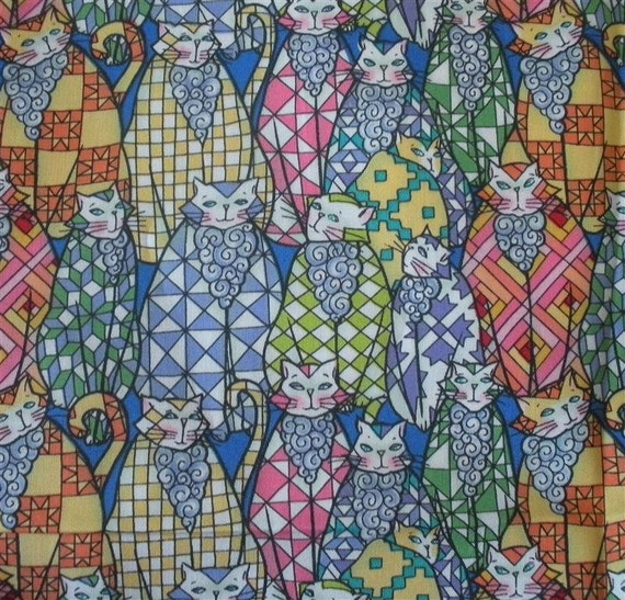 Country Kittys Jim Shore Fabric-- ONE and ONE-THIRD yard