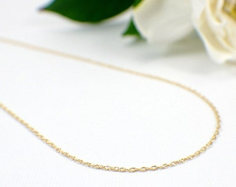 "1mm 14k gold filled thin double rope chain 16 18 20 24 30 inch "" finished necklace chain with clasp delicate width 41 to 76cm lengths single"