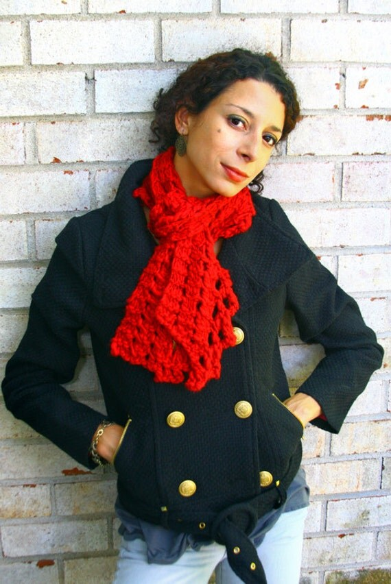 Knitting Pattern- Chunky Lace Knit Scarf