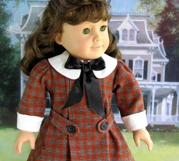 Samantha's Pleated Wool Dress and Stockings - American Girl Doll Clothes