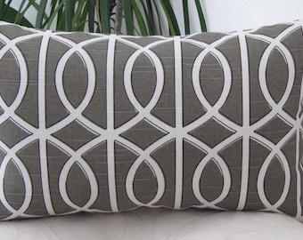 NEW Trellis Chains Bella Porte Brindle Decor Pillow- Lumbar Pillow/Accent Pillow