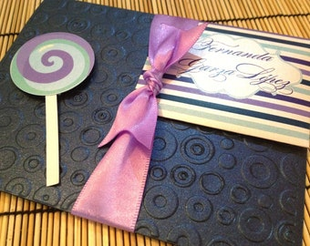 Quinceanera Invitations with a Candy Theme Copy