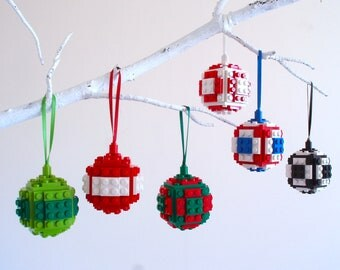 Christmas Bauble, Christmas Decoration, Christmas tree Decoration - Handmade with LEGO(r) bricks