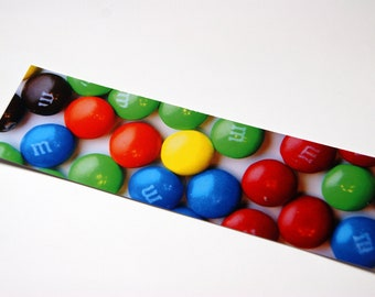 SALE - Candy M and Ms Photo Bookmark
