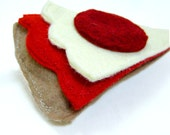 Wool Felt Food Pizza Slice with Pepperoni Toy