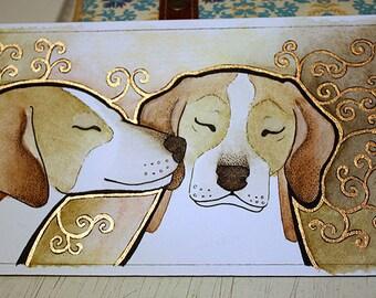Minis - Bronze Foxhounds - Original Art