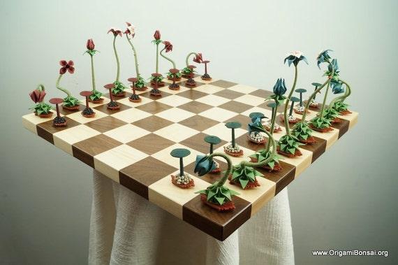 Origami Bonsai Chess Set V