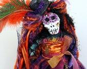 "OOAK Art Doll ""Hallowed Catrina"" Day of the Dead/ Halloween Doll"