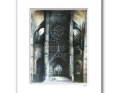 "Beauvais Cathedral - 11x14"" Matted Print Reproduction"
