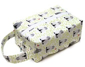 One Sheep Two Sheep Grey Sheep - Knitting Project Bag Box Bag