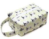 One Sheep Two Sheep Grey Sheep - Knitting Project Bag Box Bag