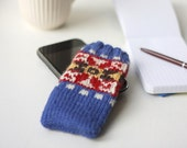 Fair Isle iPhone Sock - PDF knitting pattern