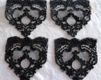 Destash Lot 4 Pieces Fancy Lace Embellishments or Appliques