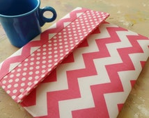 iPad Cover, Padded ipad Case Sleeve, Gadget Cases & Covers for ipad 1, 2, 3 and ipad mini  in Pink Chevron and Polka Dots