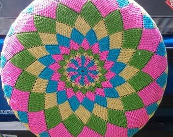 spiral diamonds crochet spare tire cover