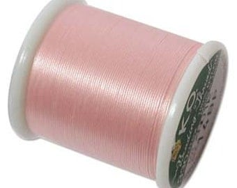 K.O. Beading Thread, Size B, 55 yds. (50m) 1 Spool Baby Pink (14Bp)