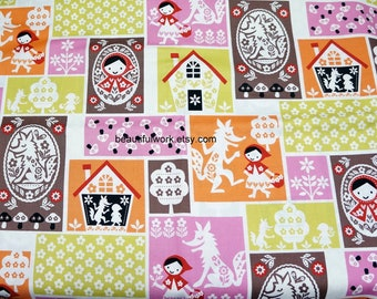 Japanese fabric fairy tales selection Little red riding hood half meter nc45
