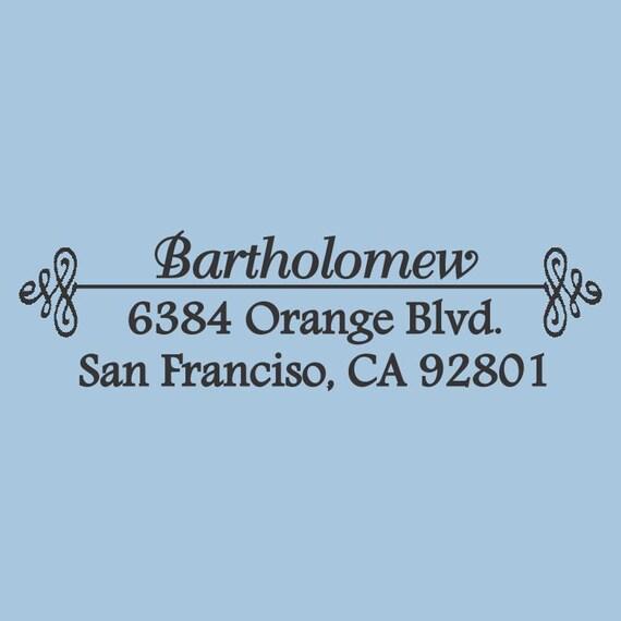 Classic Bartholomew Custom Self Inker  Address Stamp Design 200-029