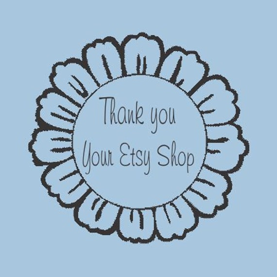 Daisy Thank you Flower - Custom Self  Inking Stamp - Design R310-003