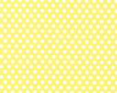 Fat Quarter - Kiss Dot Yellow Fabric by Michael Miller Fabrics CX5518-YELL-D
