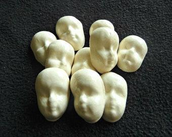 10 porcelain face tiles or cabochon