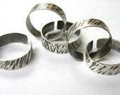 Toe Ring, textured metal ring, sterling silver toe ring, adjustable toering, toe adornment, summer footwear