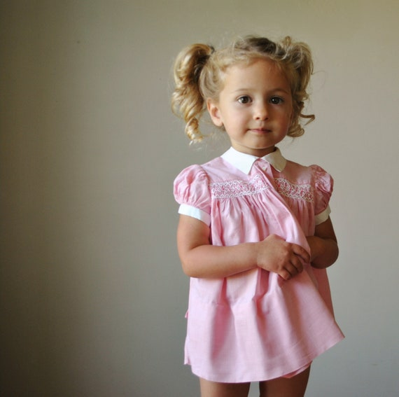 1950s Mini Houndstooth print dress, size 12-18 months