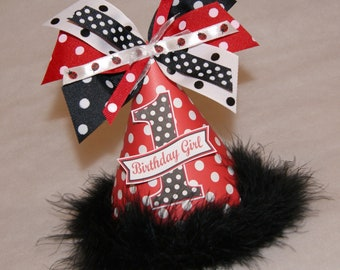 Red and Black Polka Dot Ladybug Party Hat