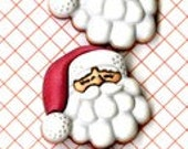 BUTTONS SLEEPING SANTA set of 3