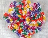 Crocheted Multicolored Flower in Gumdrop Cotton Yarn