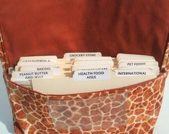 Coupon Wallet, Ready to Ship, Coupon Organizer, Coupon Purse, Cash Management, Giraffe Fabric