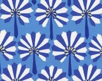 Palm Fan  by Kafe Fassett in Blue for Rowan Fabrics GP114 - 1/2 yard