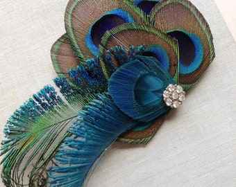 Peacock Fascinator--Made to Order