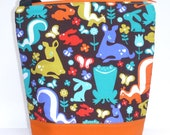 Insulated Lunch Bag Tote Zip Eco Friendly Woodland Friends by BonTonsGifts on Etsy