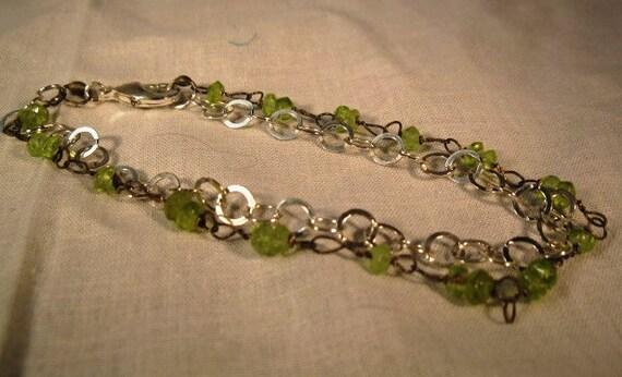 womans bracelet jewelry sterling silver peridot