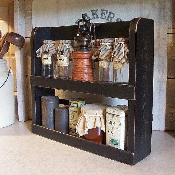 primitive wood spice rack 2