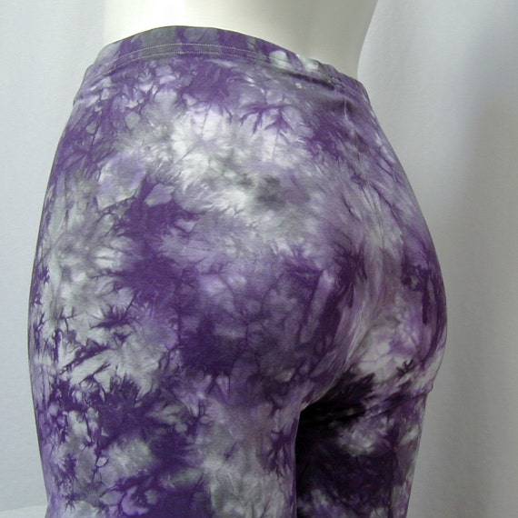 Monet Leggings in Purple and Charcoal Gray (extra large)