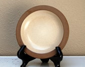 Heath Ceramics Rim Bread and Butter Plate Sandalwood Nutmeg