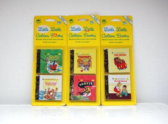 1980s Little Little Golden Books Mini Miniature 1988 Set of 6