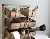 RESERVED / industrial organizer / rustic hardware bin