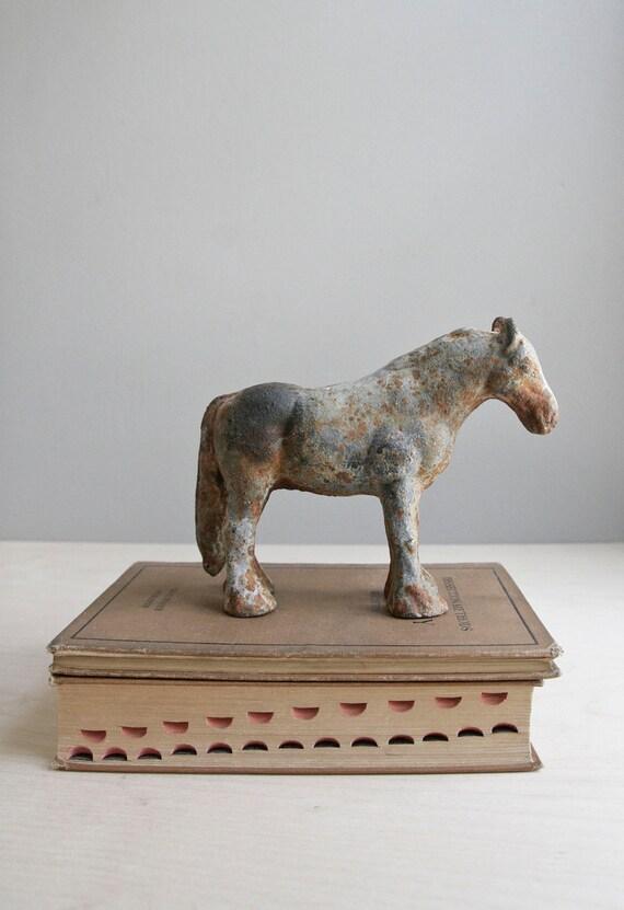 rustic cast iron horse