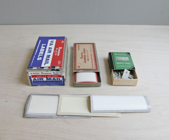 vintage supply / office label collection