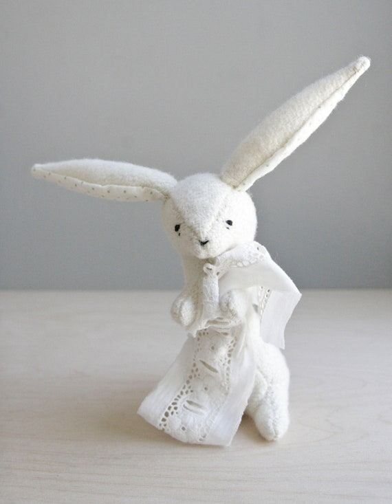 rabbit measuring fabric / soft sculpture animal