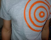 custom men's medium tshirt with circles