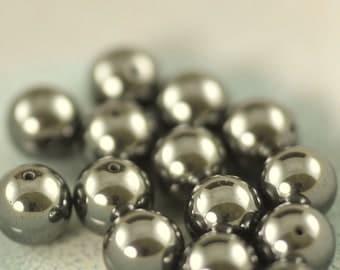 10mm round Hematite beads (43)