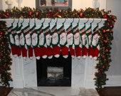 Santa Claus Christmas Stocking, Christmas Stocking, Christmas Stocking Patterns, Christmas Stocking Design, Stockings, Christmas Knitting