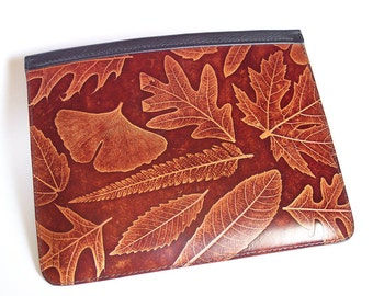 iPad 3 or  iPad 4 Leather Case with Leaf Design