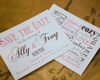 Savannah Save the Date Cards Destination Wedding