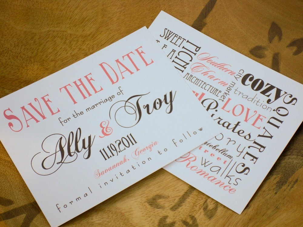 Save the dates ideas in Sydney